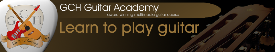 GCH Guitar Academy 3 year guitar course, online library of guitar lessons.