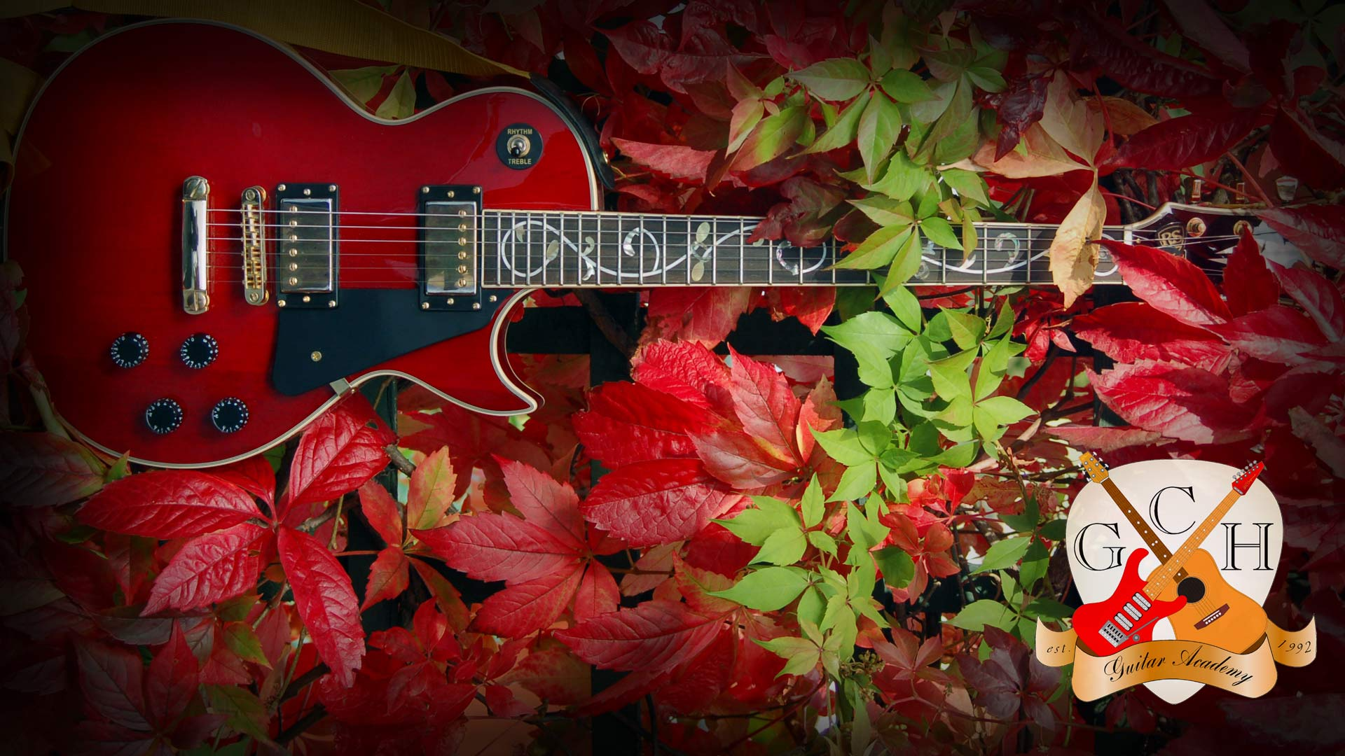 Guitar Wallpaper Gibson Les Paul Style