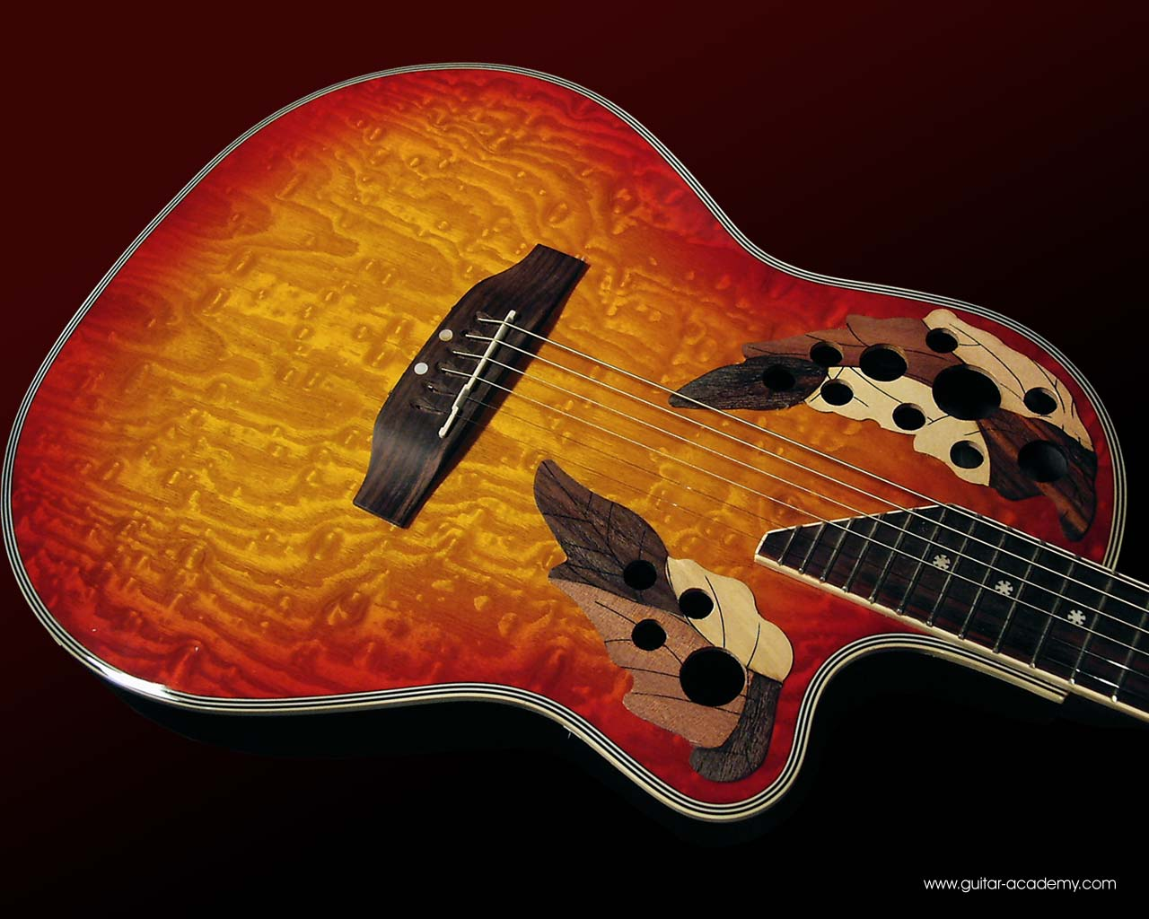 Guitar wallpaper, Ovation style electro acoustic guitar