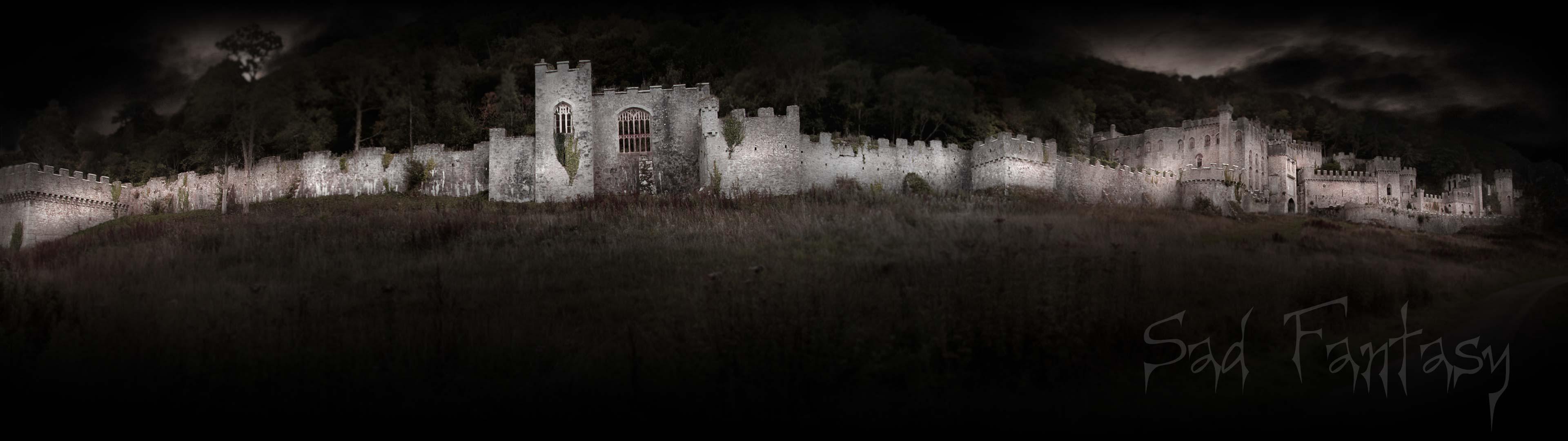 Sad Fantasy wallpaper. Fantasy, gothic image of Gwrych Castle