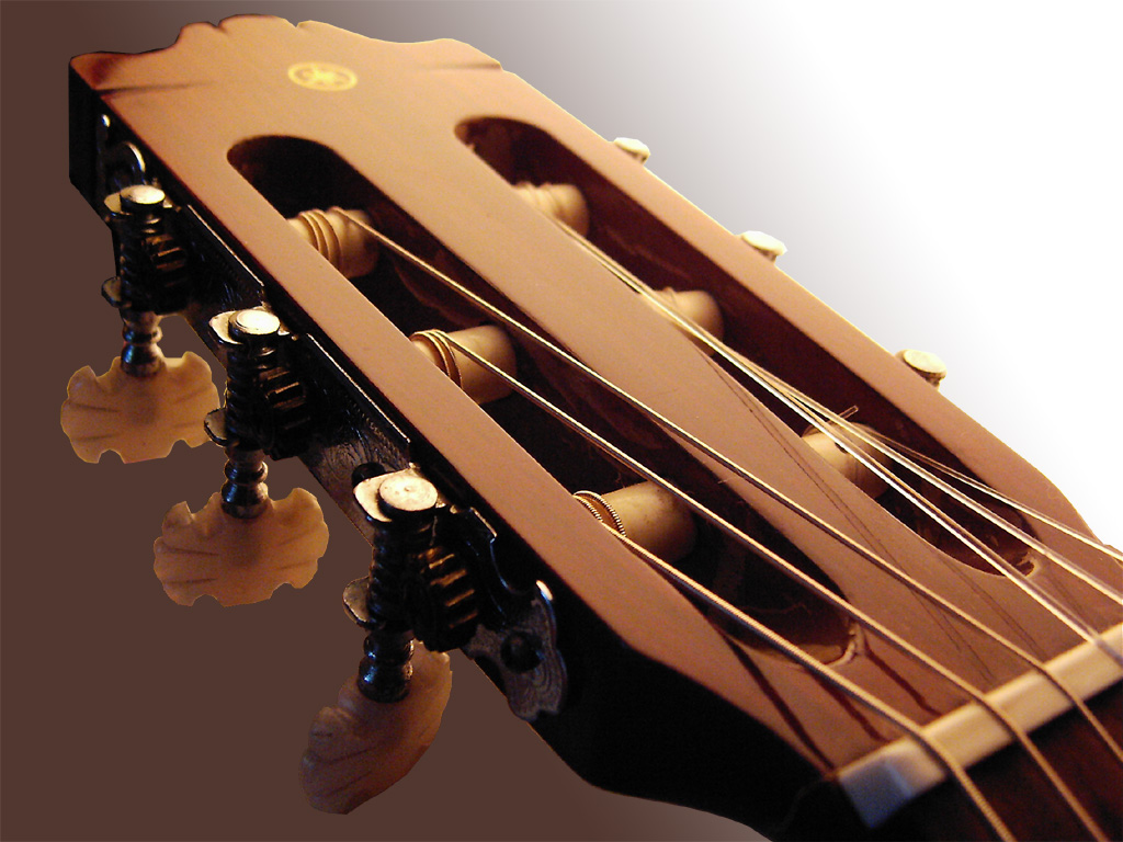 Guitar Wallpaper Acoustic Headstock And Tuners