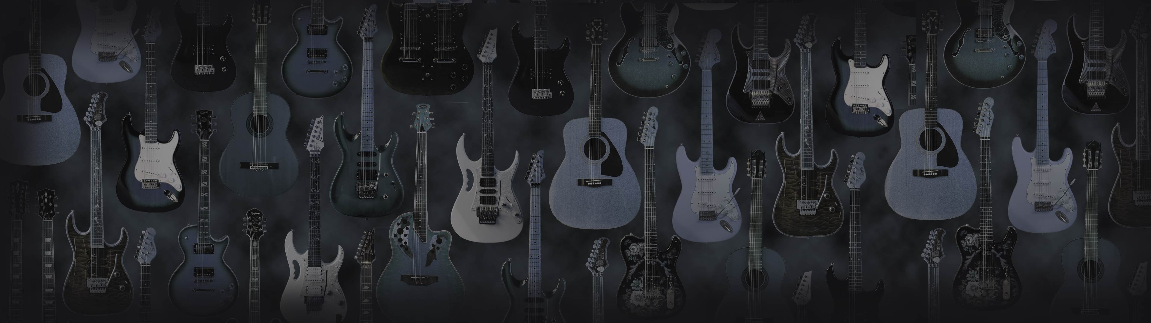 Good Wallpaper Music Dual Monitor - guitars-2-double-wide  Photograph_511434.jpg
