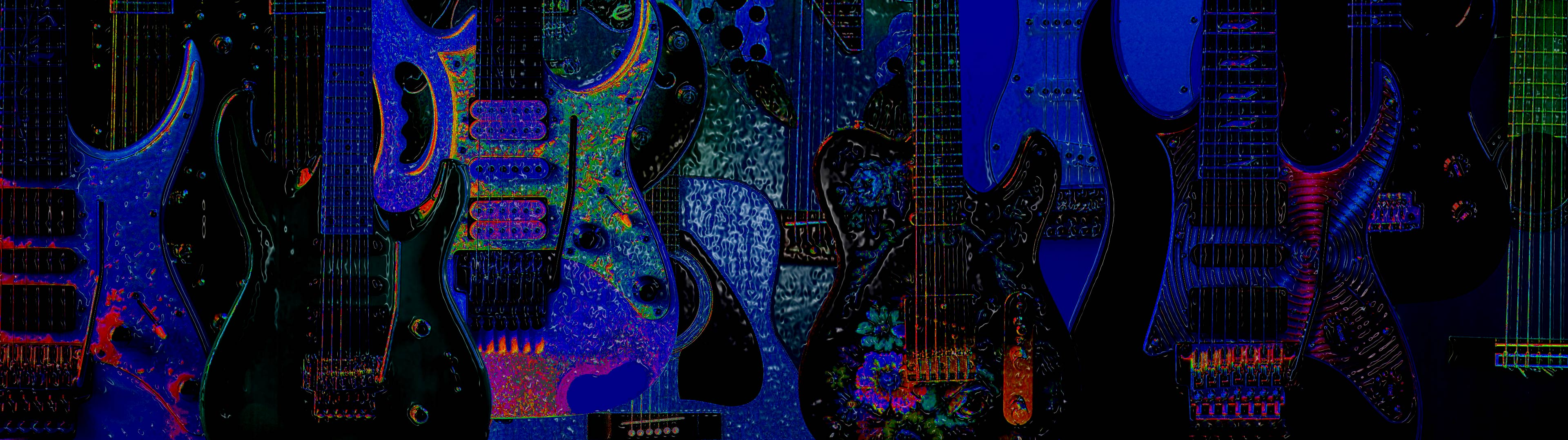 Wonderful Wallpaper Music Dual Monitor - guitars-double-wide-1  Pic_31786.jpg